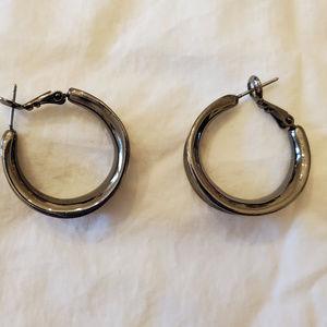 lia sophia Hematite Earrings